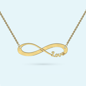 Infinity necklace with your name cut out